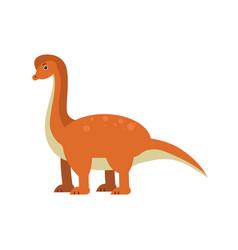 cute cartoon brachiosaurus dinosaur prehistoric vector image vector image
