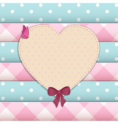 heart scrap book background vector image vector image