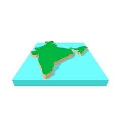 India map icon cartoon style vector image
