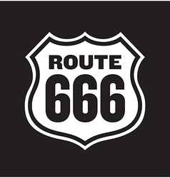 Route 666 Road Sign vector image vector image