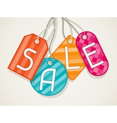 Sale poster with price labels in flat design style vector image vector image