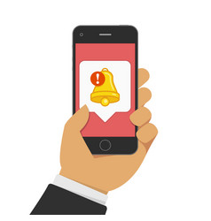 smartphone with notifications icon vector image