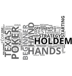 a quick and easy texas holdem poker lesson for vector image