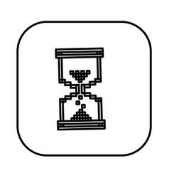 figure symbol hourglass icon vector image