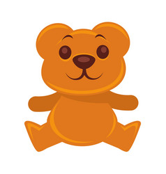 plush teddy bear isolated on vector image