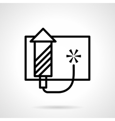 Pyrotechnics icon black simple line style vector image