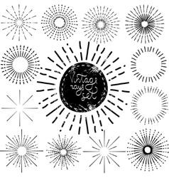 Set of Vintage Sunbusrt vector image
