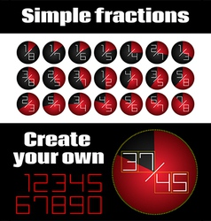 Simple Fractions vector image