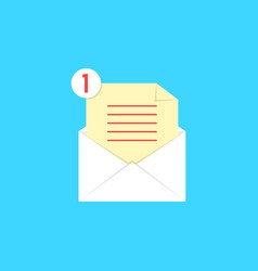 white open envelope with check list and notice vector image