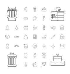 37 traditional icons vector image