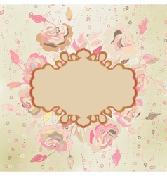 Abstract elegance pattern with floral EPS 8 vector image