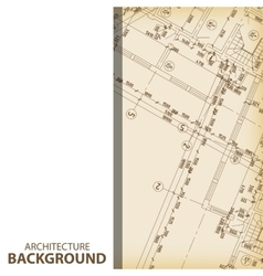Architecture blueprint fragment background vector