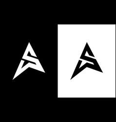 As letter logo letter logo design vector