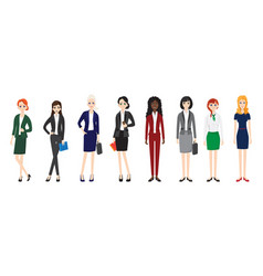 attractive young women in elegant office clothes vector image