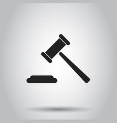 auction hammer icon on isolated background vector image