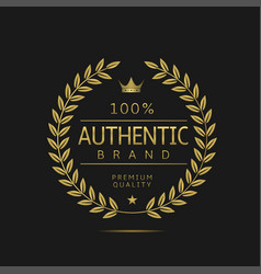 Authentic brand label vector