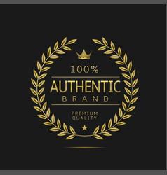 Authentic brand label vector