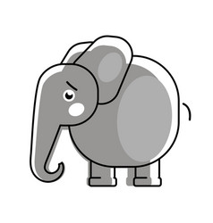 baby elephant with a heart logo for vector image