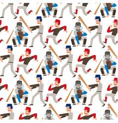 baseball team player sport man in uniform vector image