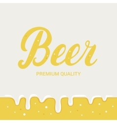 Beer festival poster Lager beer background vector image