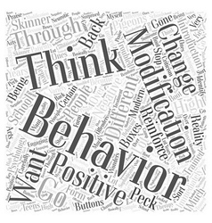 Behavior modification Word Cloud Concept vector
