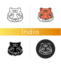 Bengal tiger icon vector