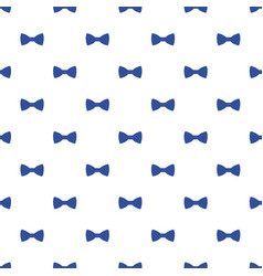 blue striped bow pattern seamless vector image