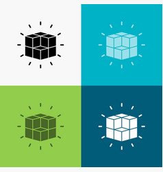 Box labyrinth puzzle solution cube icon over vector