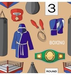 Boxing set pattern vector