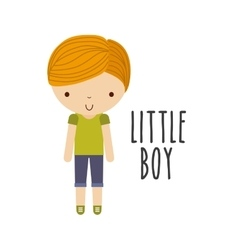 Boy icon Kid and cute people design vector image
