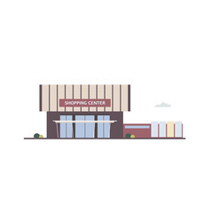building of shopping center mall outlet store vector image