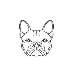 bulldog sketch drawing coloring black white logo vector image