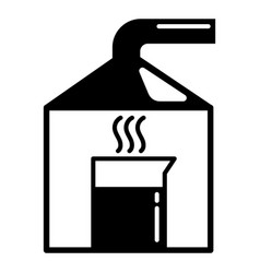 chemical lab experiment icon simple style vector image