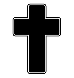 church cross the black color icon vector image