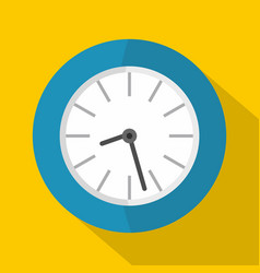 clock business icon flat style vector image