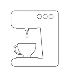 Coffee maker icon design vector