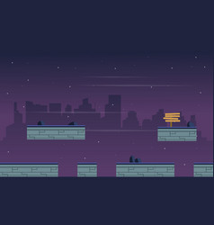 Collection game background with city landscape vector