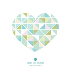 Colorful pastel triangle texture heart silhouette vector