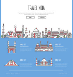 country india travel vacation guide vector image