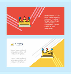 crown abstract corporate business banner template vector image