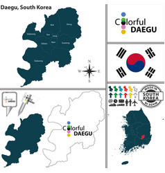 Daegu metropolitan city south korea vector