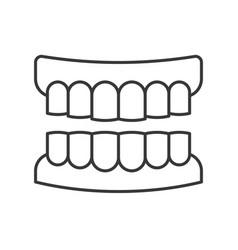 Denture outline icon pixel perfect vector