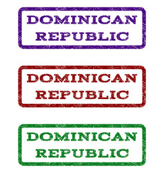 Dominican republic watermark stamp vector
