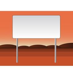 Empty billboard vector