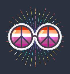 Equal love inspirational lesbian pride poster vector