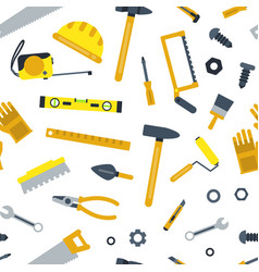 Flat construction tools pattern or vector