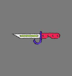 Flat shading style icon army bayonet knife vector