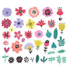 Flowers floral set vector