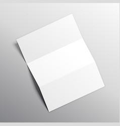 Folded paper mockup design vector