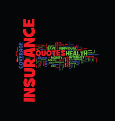 Free insurance quotes to save you money text vector